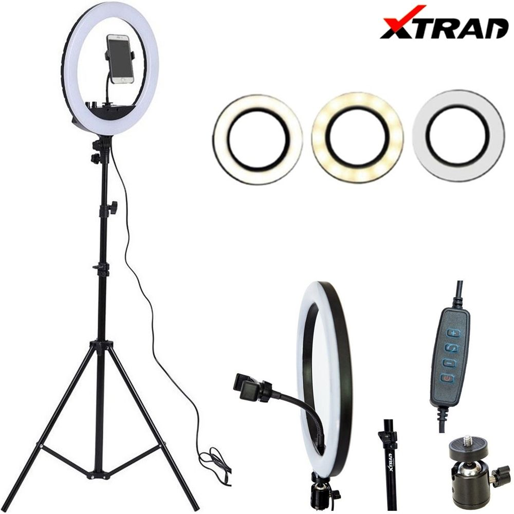 Iluminador Ring Light Com Tripé Xtrad ch0429