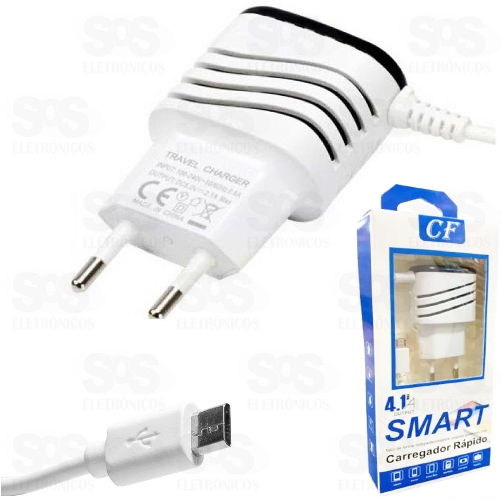 Carregador Micro USB V8 4.1A  Smart CF